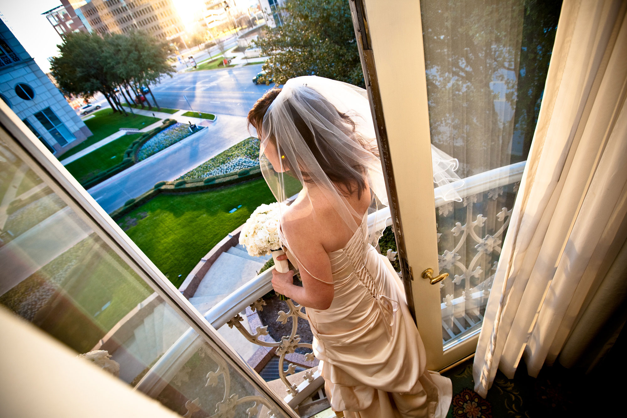 Bride Waiting for the Ceremony Crescent Court Dallas Texas
