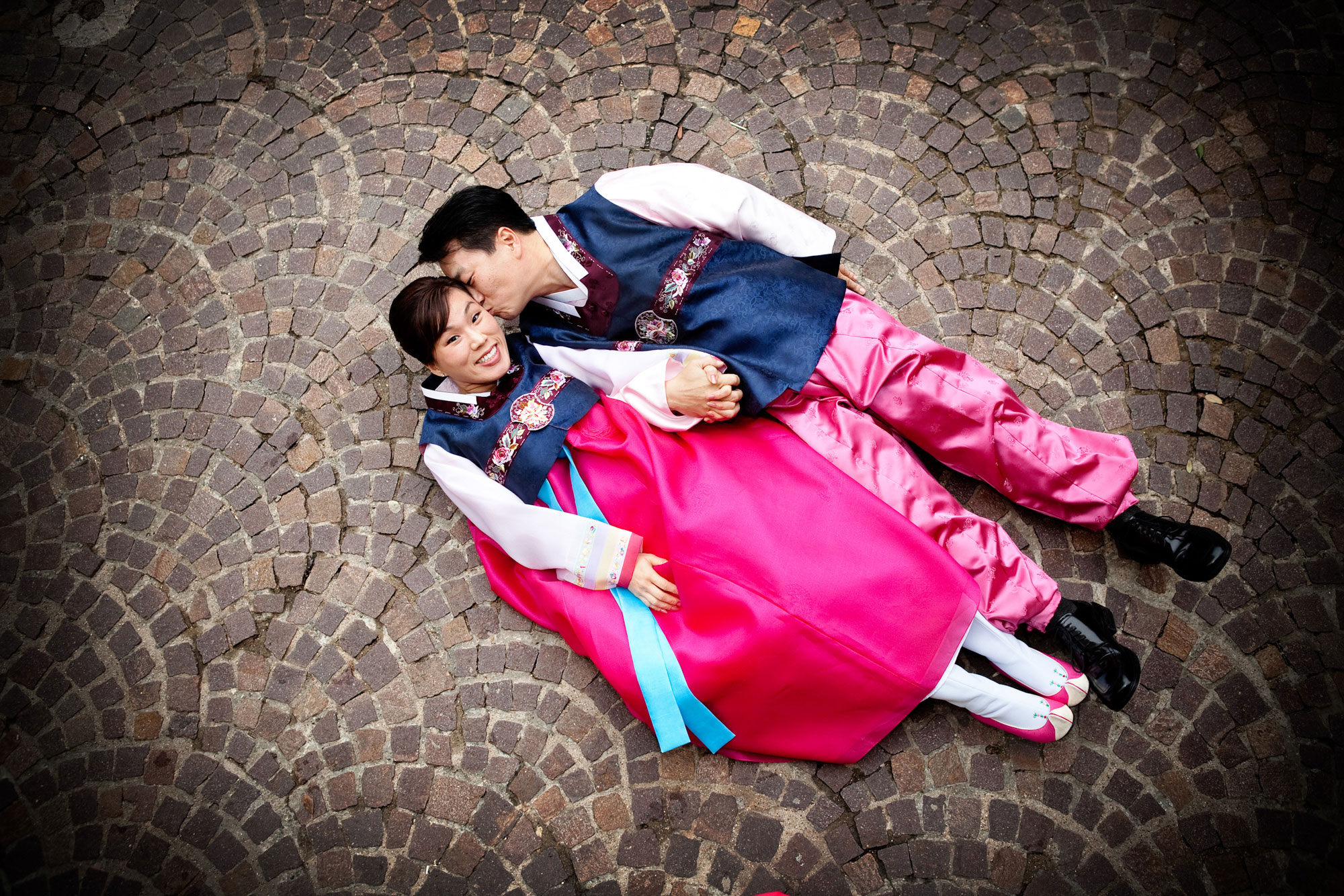 Engagement Photography Traditional Korean Outfit Mandalay Canal Las Colinas