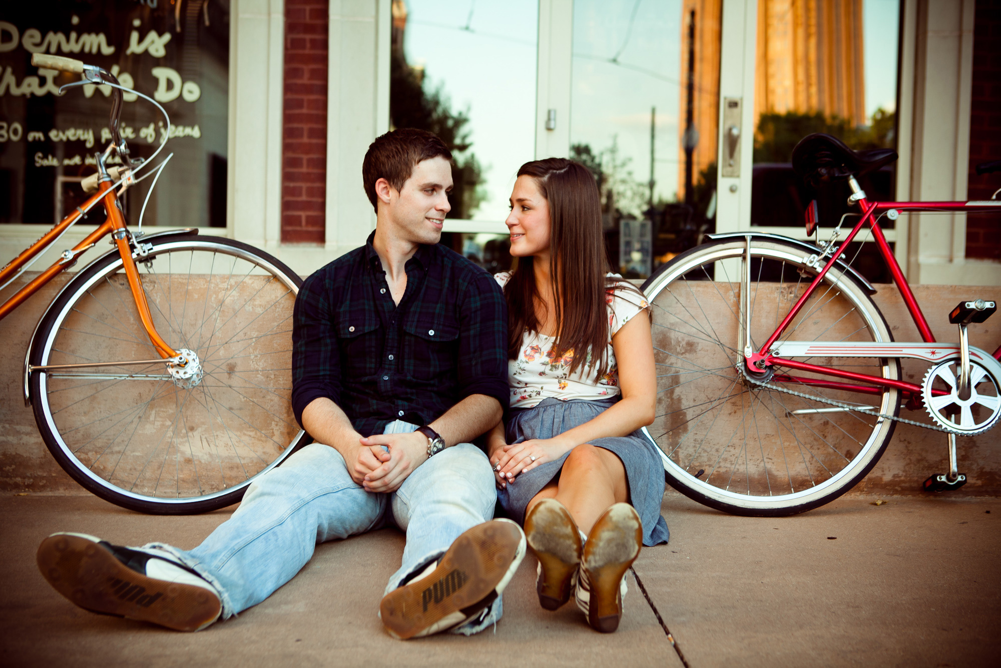 Engagement Photography Couple Riding Bicycles Uptown Dallas Texas 2
