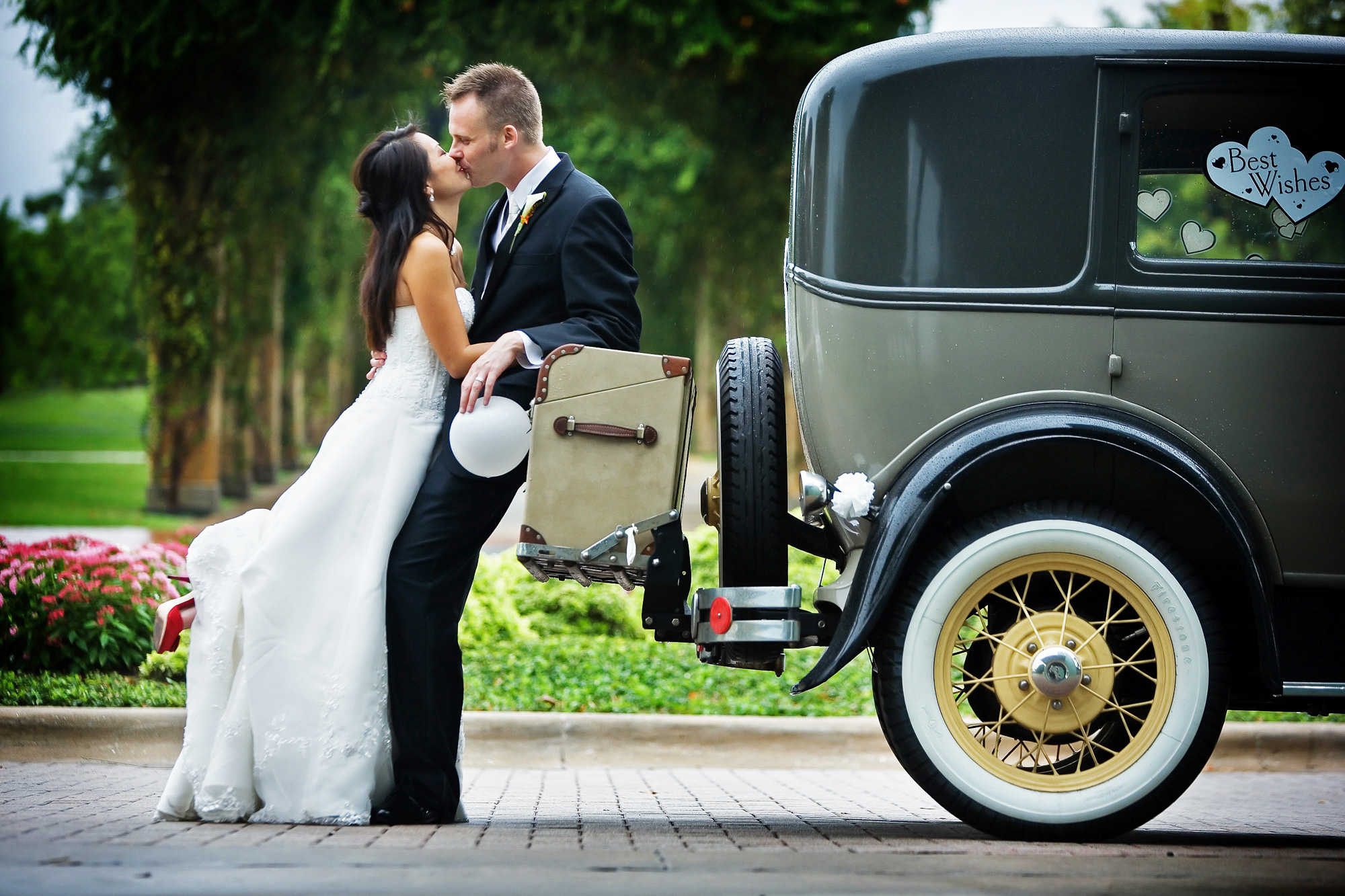 Bridal Session Classic Car Dallas Texas