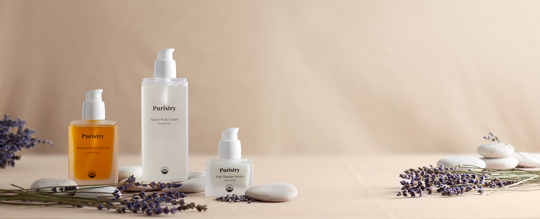 E Commerce Product Photography  Dallas Texas Lavender Toner, Therapy Serum and Oil