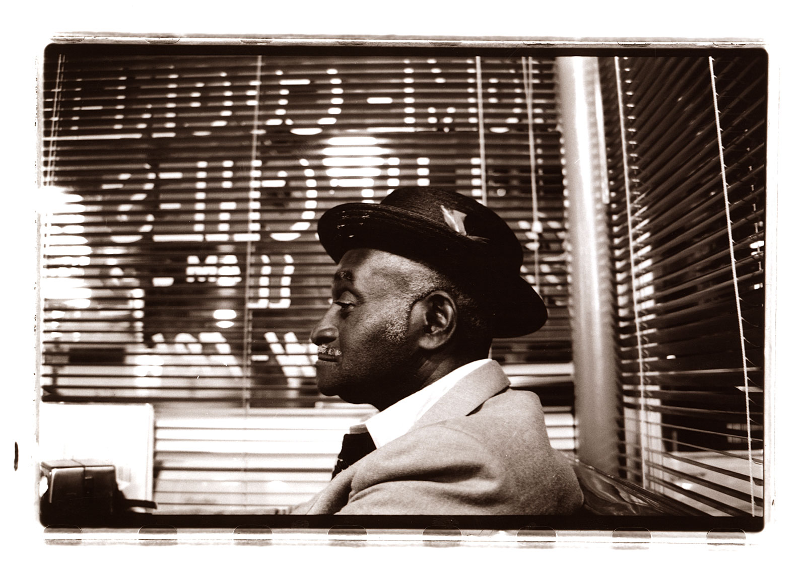 Portrait of Man at the Metro Diner in Dallas Texas