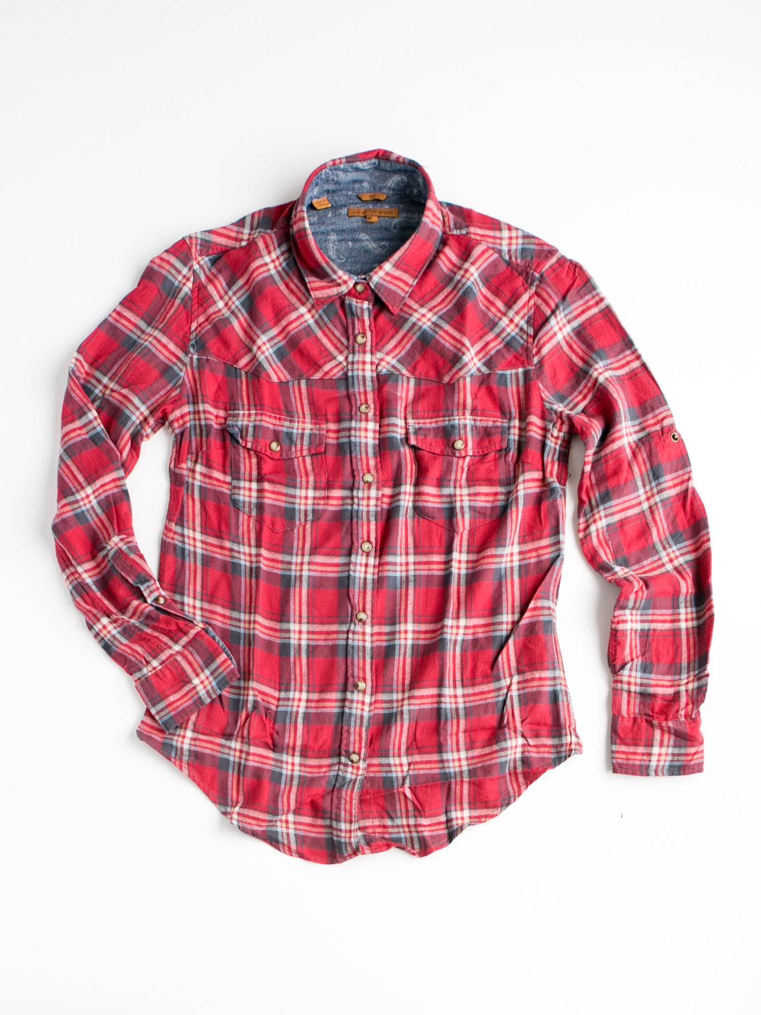 E Commerce Product Apparel Photography White Background Dallas Texas  Plaid Shirt