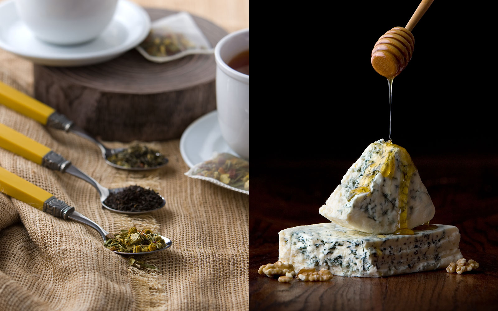 Food Photography in Dallas Texas of Cheese and Tea