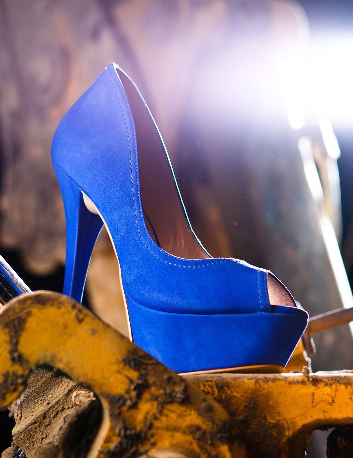 E Commerce Product Photography  Dallas Texas Blue High Heel