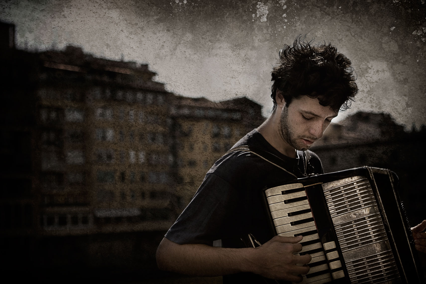 Italian Accordian Player Italy