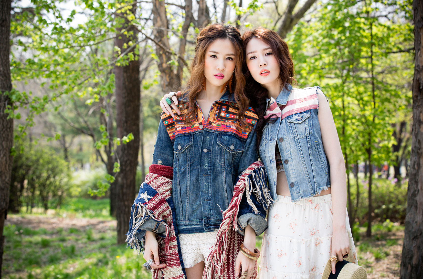 Fashion Editorial Story Photo Shoot with Twin Sisters