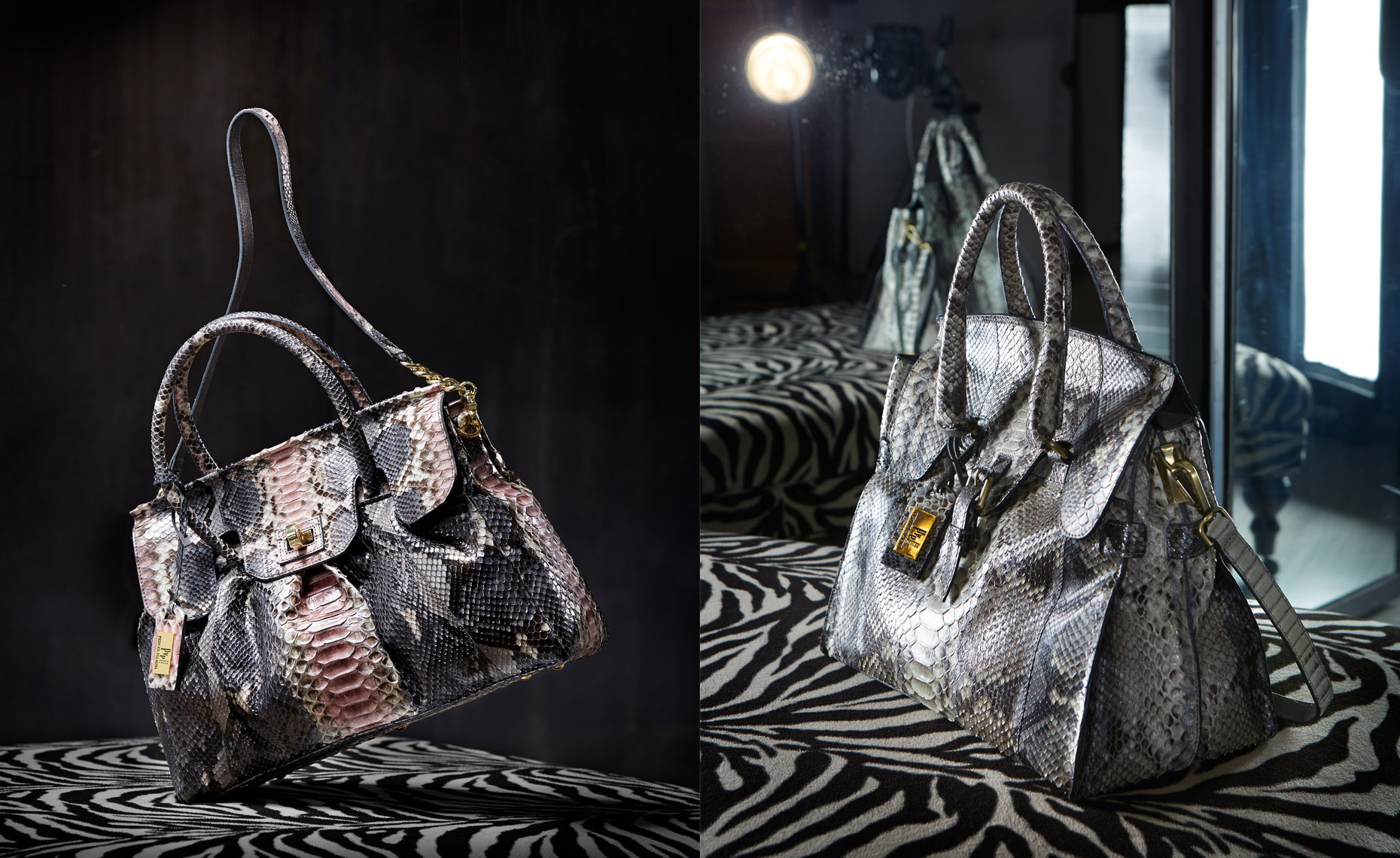 E Commerce Product Photography  Dallas Texas Philipp Plein Alligator Tote Shoulder Handle Bag