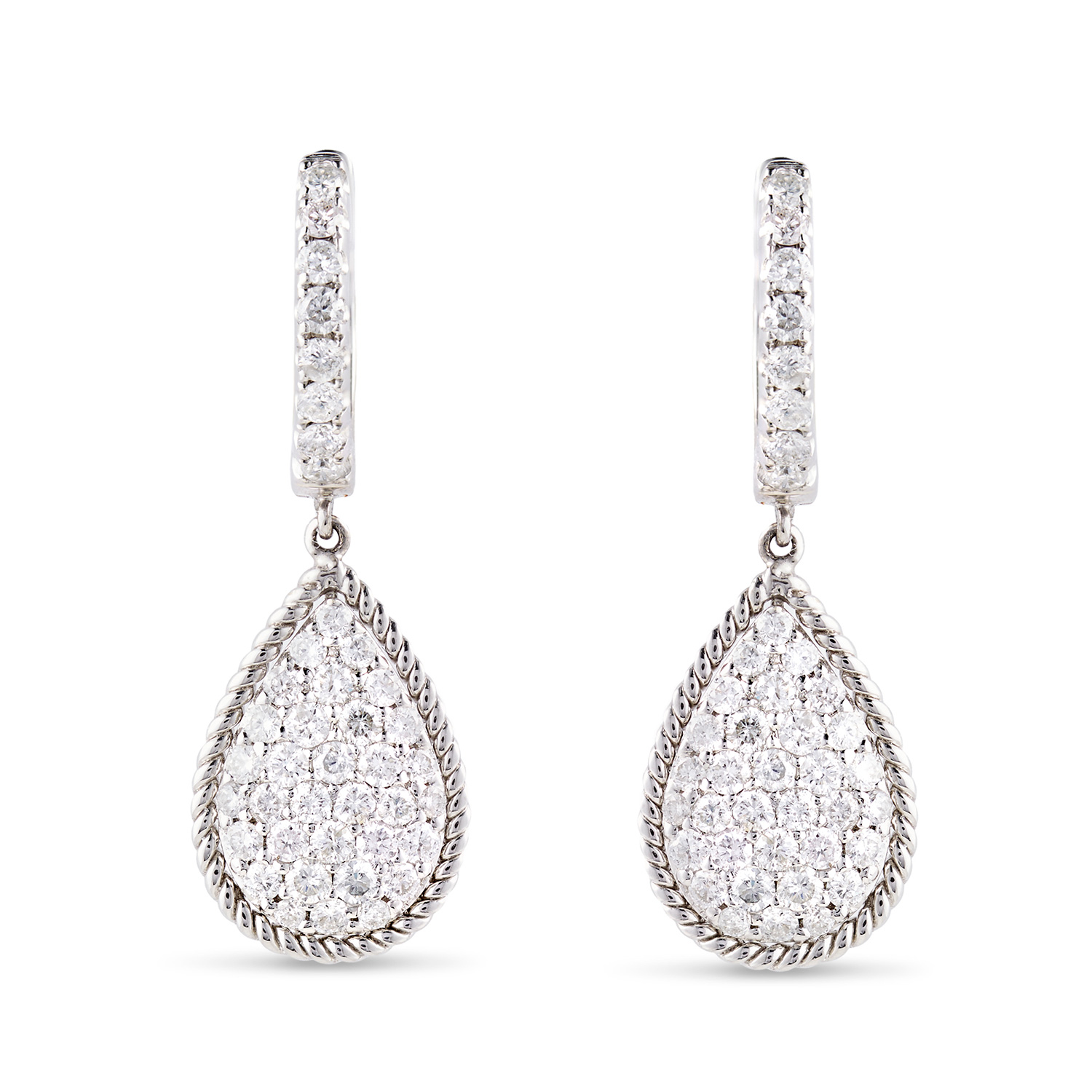 E Commerce Product Jewelry Photography on White Background Dallas Texas Teardrop Earrings