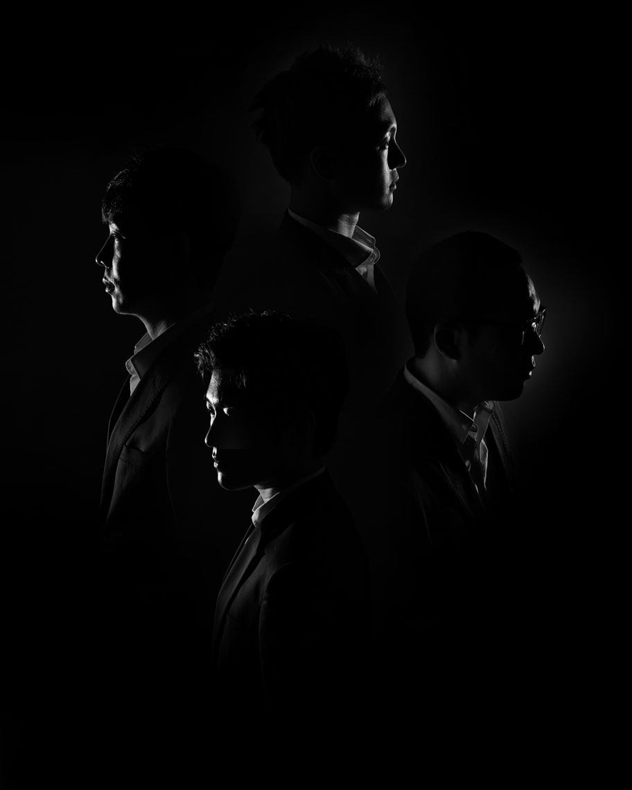 Editorial Photoshoot Singing Group silhouette Dallas Texas
